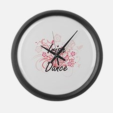 Irish Dance Artistic Design with Large Wall Clock