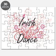 Irish Dance Artistic Design with Flowers Puzzle