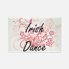 Irish Dance Artistic Design with Flowers Magnets