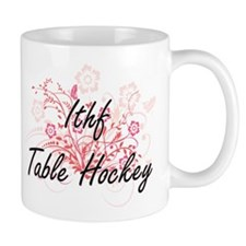 Ithf Table Hockey Artistic Design with Flower Mugs