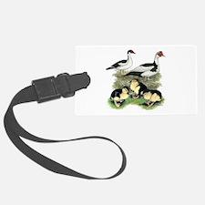 Muscovy Ducks Black Pied Luggage Tag