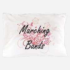 Marching Bands Artistic Design with Fl Pillow Case
