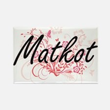 Matkot Artistic Design with Flowers Magnets