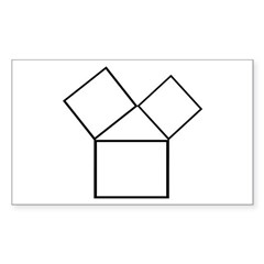 The 47th problem Rectangle Sticker