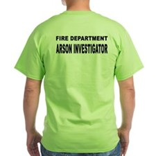 Fire Department Arson Investigator T-Shirt