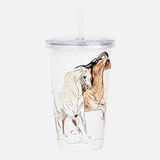 Arabian Horses Acrylic Double-wall Tumbler