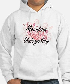 Mountain Unicycling Artistic Des Hoodie