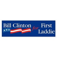 Bill First Laddie Bumper Car Sticker