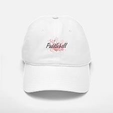 Paddleball Artistic Design with Flowers Baseball Baseball Cap