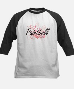 Paintball Artistic Design with Flo Baseball Jersey