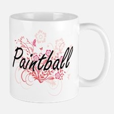 Paintball Artistic Design with Flowers Mugs
