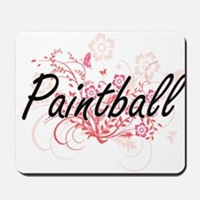 Paintball Artistic Design with Flowers Mousepad