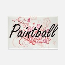 Paintball Artistic Design with Flowers Magnets