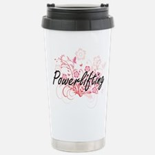 Powerlifting Artistic D Stainless Steel Travel Mug
