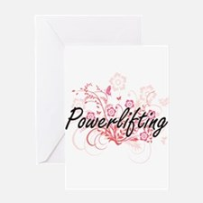 Powerlifting Artistic Design with F Greeting Cards