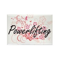 Powerlifting Artistic Design with Flowers Magnets