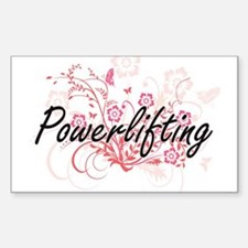 Powerlifting Artistic Design with Flowers Decal