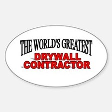 """The World's Greatest Drywall Contractor"" Decal"