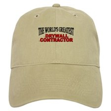 """""""The World's Greatest Drywall Contractor"""" Baseball Cap"""