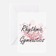 Rhythmic Gymnastics Artistic Design Greeting Cards