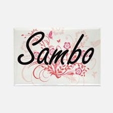 Sambo Artistic Design with Flowers Magnets