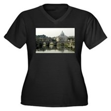 Vatican City Women's Plus Size V-Neck Dark T-Shirt