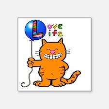 "Cute Smile your mom chose life Square Sticker 3"" x 3"""