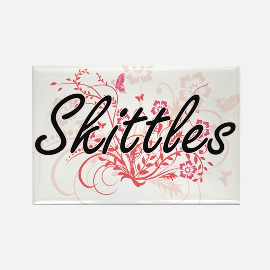 Skittles Artistic Design with Flowers Magnets