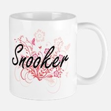 Snooker Artistic Design with Flowers Mugs