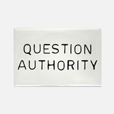 Question Authority Rectangle Magnet