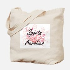 Sports Aerobics Artistic Design with Flow Tote Bag