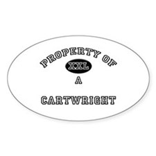 Property of a Cartwright Oval Decal