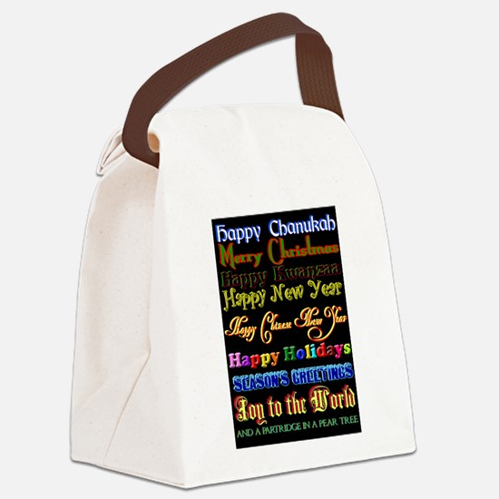 Holiday Greetings Canvas Lunch Bag