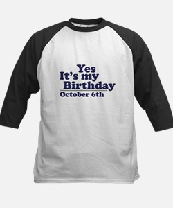 October 6th Birthday Tee