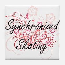 Synchronized Skating Artistic Design Tile Coaster