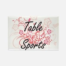 Table Sports Artistic Design with Flowers Magnets