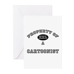 Property of a Cartoonist Greeting Cards (Pk of 10)