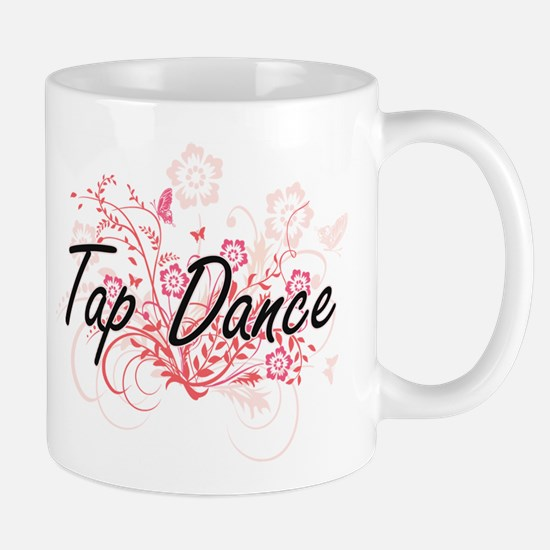 Tap Dance Artistic Design with Flowers Mugs