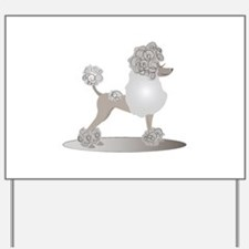 French Poodle Yard Sign