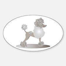 French Poodle Decal