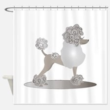 French Poodle Shower Curtain