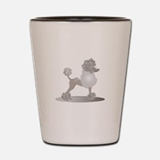 French Poodle Shot Glass