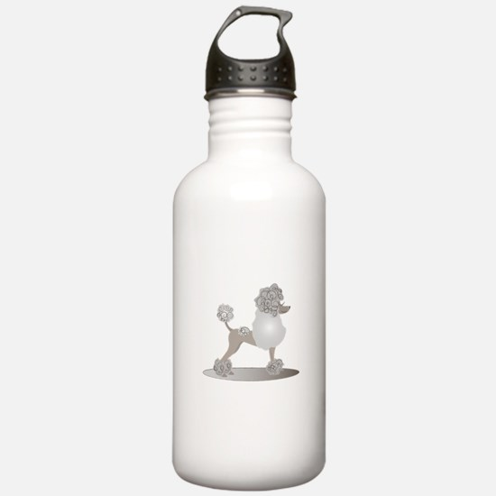 French Poodle Water Bottle