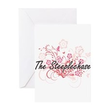 The Steeplechase Artistic Design wi Greeting Cards