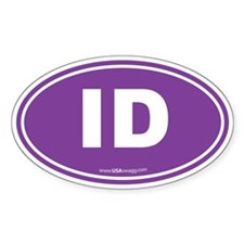 Idaho ID Euro Oval Decal
