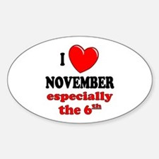 November 6th Oval Decal