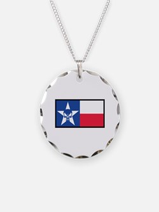 Texas Skull Flag Necklace