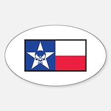 Texas Skull Flag Decal