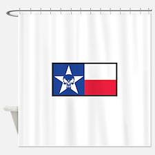 Texas Skull Flag Shower Curtain