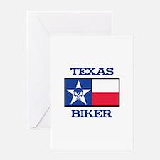 Texas Biker Greeting Cards